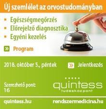 Quintess Tudásközpont Orvostovábbképzés 2018. II.félévi program